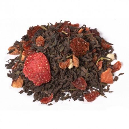 Té rojo y verde kiwi y fresa