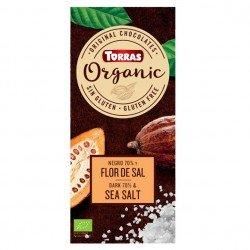 """Chocolate negro 70% cacao con flor de sal """"orgánico"""""""
