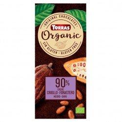 """Chocolate negro 90% cacao """"orgánico"""""""
