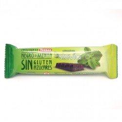 Chocolate negro Stevia con menta